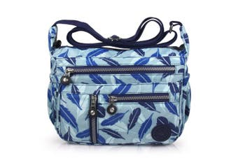 (4-blue Feather) - ABLE Women Anti Splash Water Shoulder Messenger Crossbody Bags