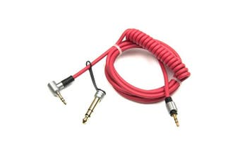 (Red) - Replacement Extension Aux Auxiliary Audio Cord Cable Wire for Beats By Dr Dre Solo Studio and Pro_Detox Edition Headphones_Re