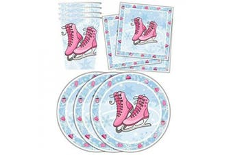 ice skating birthday party supplies set plates napkins cups tableware kit for 16