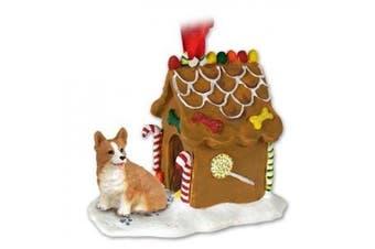 welsh corgi gingerbread house ornament - pembroke