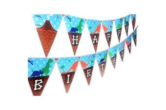 dinosaur happy birthday banner pennant
