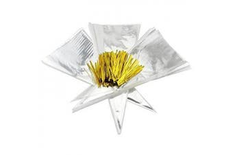200 15 x 7 clear cone-shaped treat, favour & popcorn bags (200 bags + 200 twist fastens); large cellophane goody bags