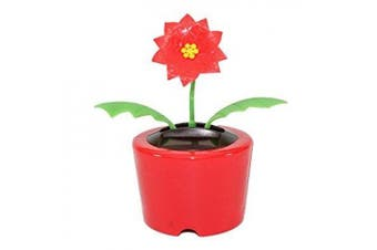holiday gift ~ dancing poinsettia flower solar toy us seller great christmas gift car dashboard office desk home decor