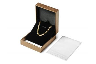 (50.0 Centimetres) - Aplstar Solid Gold Curb Chain Necklace 2mm thick 18ct Real Gold Plated Size