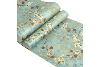 Country Vintage Floral Pattern Self Adhesive Contact Paper Non-Woven Peel and Stick Wallpaper for Living Room Bedroom Wall Art Deco 50cm By 3m