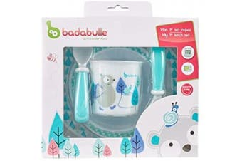 Badabulle My First Lunch Set, Blue/White