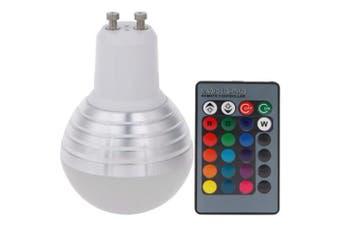 (GU10-3W RGB) - EJIAEN LED Bulbs 3W-10W RGB B22 Bayonet / E27 / GU10 Base Colourful Dimmable Lamps with Remote for Decorative Home Lighting (GU10-3W RGB)