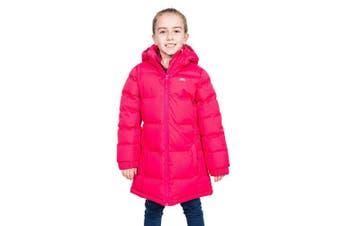 (11-12 Years, Raspberry) - Trespass Tiffy Kid's Waterproof Down Jacket