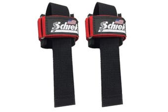 Schiek Power Lifting Straps - Red