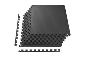 "(1/2"" Thick, 24 Square Feet, Black) - BalanceFrom Puzzle Exercise Mat with EVA Foam Interlocking Tiles"