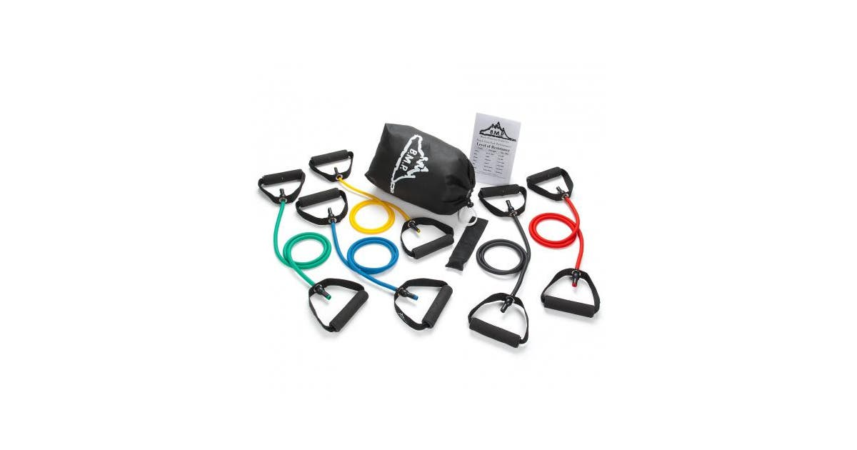Black Mountain Products Resistance Band Set Five Bands Included Kogan Com