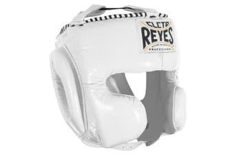 (Medium, White) - Cleto Reyes Classic Training Headgear, XL