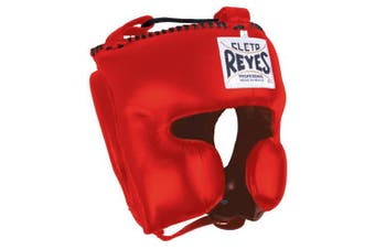 (Large, Red) - Cleto Reyes Classic Training Headgear, Medium