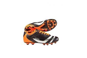 (13Y, Black/Orange) - Acacia Thunder Soccer Shoes