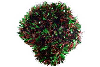 (RED/GREEN) - Christmas Concepts® 3m Metre Various Colour Chunky/Fine Christmas Tinsel - Christmas Decoration - High Quality Tinse (Red & Green)