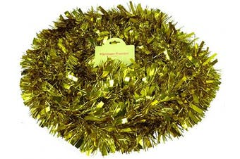 (Gold) - Christmas Concepts® 3m Metre Various Colour Chunky/Fine Christmas Tinsel - Christmas Decoration - High Quality Tinse (Gold)