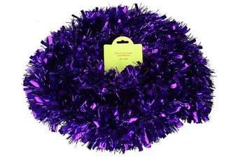 (Purple) - Christmas Concepts® 3m Metre Various Colour Chunky/Fine Christmas Tinsel - Christmas Decoration - High Quality Tinse (Purple)