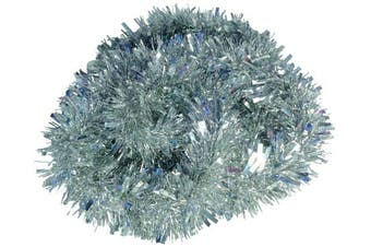 (Silver) - Silver Chunky/Fine Christmas Tinsel - 3 Metre - Christmas Decoration - Tree Decoration