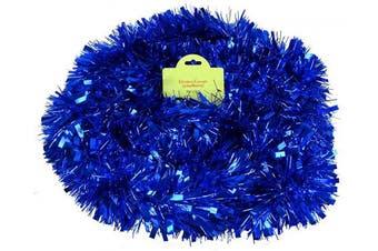 (Blue) - Blue Chunky/Fine Christmas Tinsel - 3 Metre - Christmas Decoration - Tree Decoration