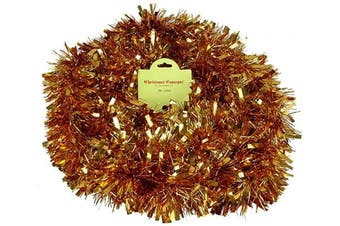 (Copper) - Christmas Concepts® 3m Metre Various Colour Chunky/Fine Christmas Tinsel - Christmas Decoration - High Quality Tinse (Copper)