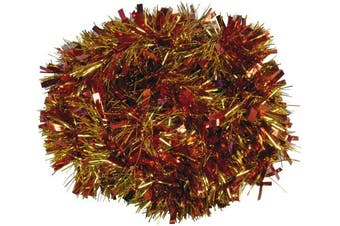 (RED/GOLD) - Christmas Concepts® 3m Metre Various Colour Chunky/Fine Christmas Tinsel - Christmas Decoration - High Quality Tinse (Red & Gold)