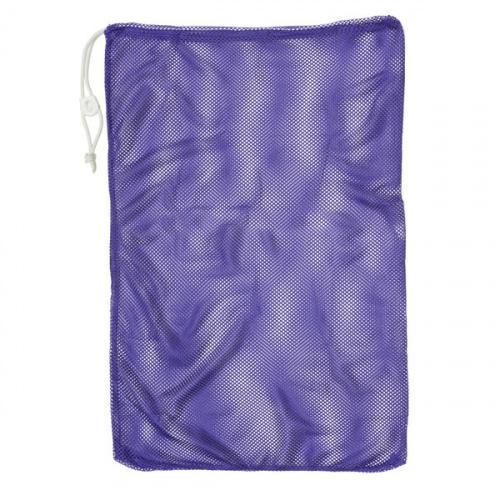 "(12  X 18 , Purple) - Champion Sports Durable Mesh Drawstring Sports Equipment Bag – Multiple Colours and Sizes Style Name: 12"" X 18""Colour: Purple"