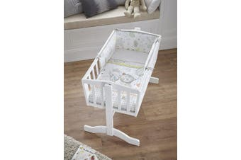 Clair de Lune Sleep Tight Crib/Cradle Quilt and Bumper Bedding Set