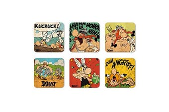 Comics - The Adventures of Asterix - Asterix & Obelix - Brave Gaul - Set of coasters - Set of 6 Drinks Mats - multicoloured - Licenced original design - Logoshirt