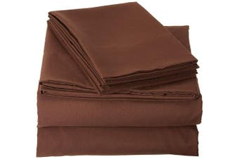 (King, Brown) - Truly Soft Sheet Sets for Everyday Use Brown King Sheet