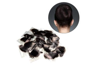 30 Pieces Invisible Hair Nets Elastic Edge Mesh for Wig and Hair Fixing Women's Bun Making, Coffee