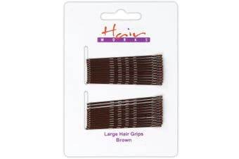 120x Long Brown Bobby Pins 6.5cm