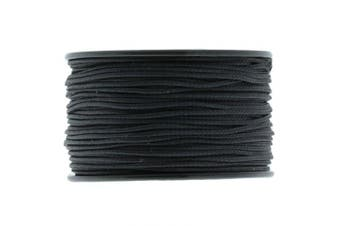 (black) - 1.18mm x 38m Micro Cord Paracord by Jig Pro Shop - Made in the USA