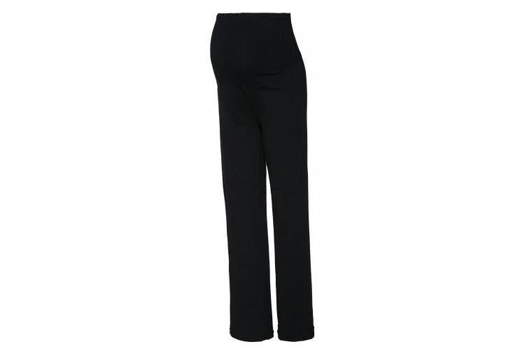 (16/18 UK, Medium Length Black) - HAPPY MAMA Women's Maternity Pants. Available in 3 Leg Lengths. 691p