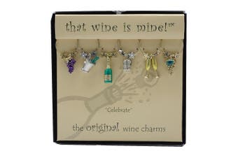 (celebrate) - Wine Things WT-1413P Celebrate Wine Charms, Painted
