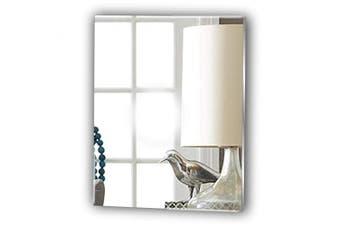 (20cm) - Frameless Rectangle Bathroom Glas look Acrylic Mirror - Lightweight Vanity Mirror - Stick on Mirror