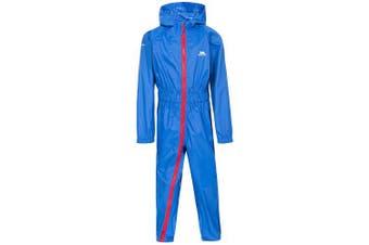 (Size 6/12, Blue) - Trespass Kids Button II Rain Suit