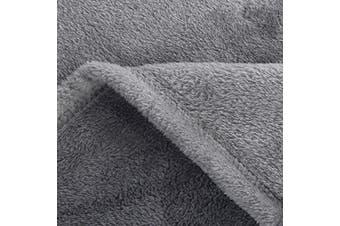 (King(270x230 cm), Grey) - Fleece Blankets Bedspread King Size Silver Grey - Luxury Extra Large Bed Fleece Blankets Super Soft Fluffy Warm Microfiber Solid Blanket 230x270cm by Bedsure