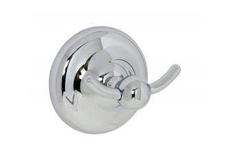 (Chrome, Robe Hook) - Croydex Flexi-Fix Grosvenor Chrome Easy to Fit Robe Hook
