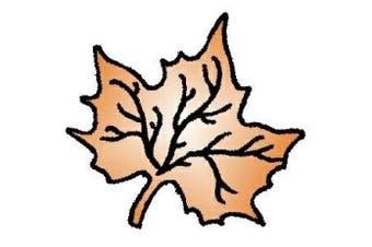 (Maple Leaf) - Art Stamps Linda Brown Maple Leaf Stamp,