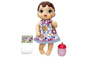 Baby Alive Lil Sips Brunette Baby Girl Doll