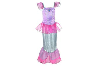 (7-8 Years, Hot Pink) - Lito Angels Girls Princess Mermaid Costumes Fairy Tales Dresses Fancy Party Dress