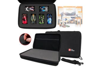 Black EVA Storage Case with Fully-Customizable & Shock-Absorbing D.I.Y Foam Interior - for the Anki Overdrive Cars & Expansion Car Toys - by DURAGADGET