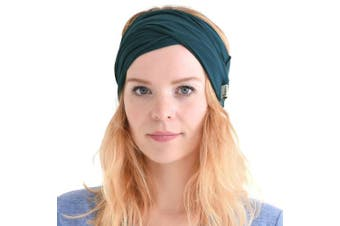 (B-Green) - Casualbox mens Elastic Bandana Headband Japanese Long Hair Dreads Head wrap