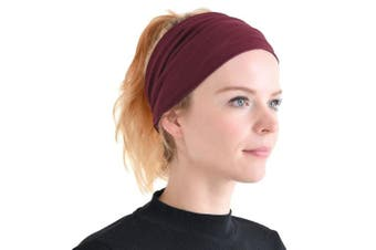 (Maroon) - Casualbox mens Elastic Bandana Headband Japanese Long Hair Dreads Head wrap