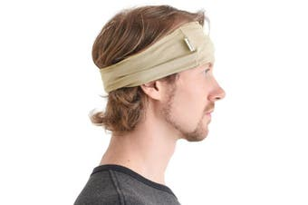 (Beige) - Casualbox mens Elastic Bandana Headband Japanese Long Hair Dreads Head wrap