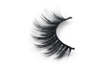 (D28) - Fake Eye Lash False Eyelashes 3D fibre Pure Hand-made Natural Look for Makeup (1 Pair)