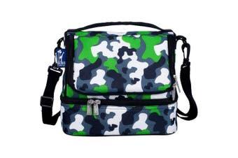 (Green Camo) - Wildkin Green Camo Two Compartment Lunch Bag