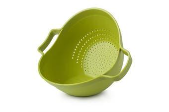 "(Lime Colander) - Zeal Plastic Drain and Serve Colander Lime (9""/23cm), Lime Green, 27 x 23 x 20 cm"