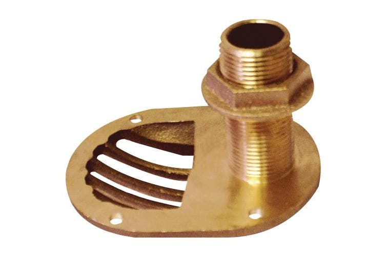 (1.3cm ) - Groco STH Bronze Scoop Through-Hull with Nut