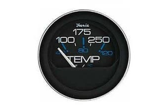 Faria Coral Black 5.1cm Water Temperature Gauge, 100-250F